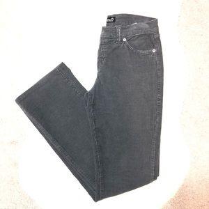 D&G Gray Corduroy Pants Size 28